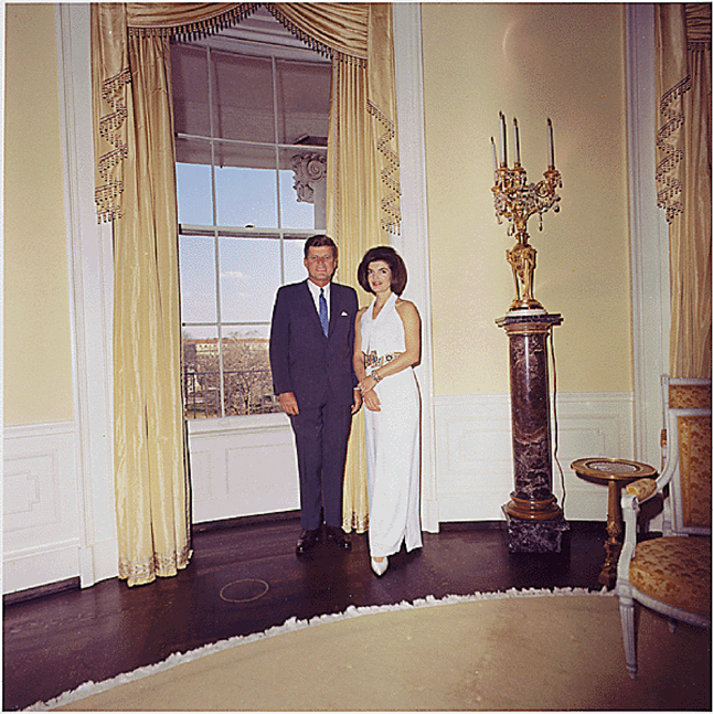 Mandatory Credit: Photo by ZUMA/REX (3385909a) U.S. President John F. Kennedy and First Lady Jacqueline Kennedy in the Yellow Oval Room, White House, Washington DC, America John F. Kennedy - 28 Mar 1963