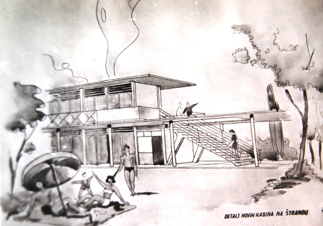 kabine na muskom strandu 1959